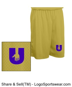 Adult Fadeaway Tricot Basketball Short - 9 inch Inseam Design Zoom
